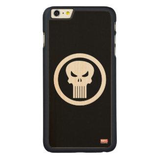 Punisher Skull Icon Carved Maple iPhone 6 Plus Case