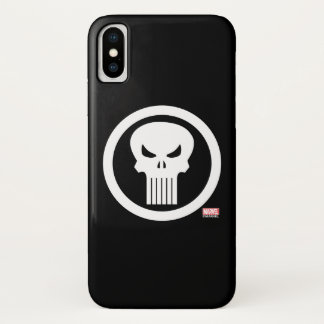 Punisher Skull Icon iPhone X Case