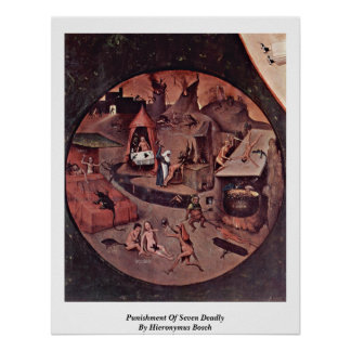 Punishment Of Seven Deadly By Hieronymus Bosch Poster