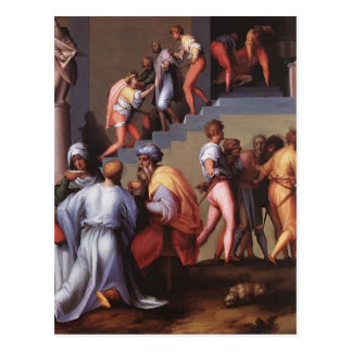 Punishment of the Baker by Jacopo Pontormo Postcard