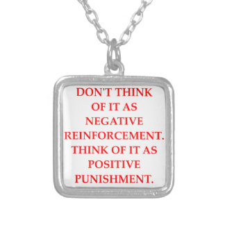 PUNISHMENT SILVER PLATED NECKLACE