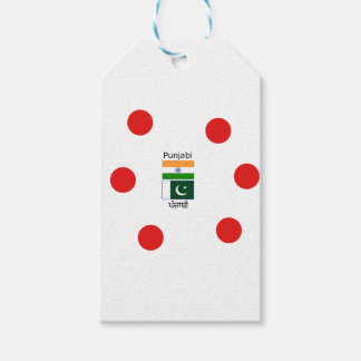 Punjabi Language With India And Pakistan Flags Gift Tags