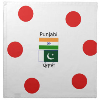Punjabi Language With India And Pakistan Flags Napkin