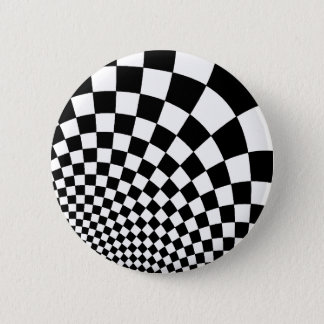 Punk abstract checkerboard 2 inch round button