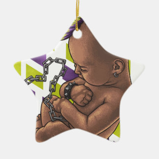 punk baby ceramic ornament