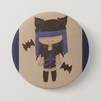 Punk bat girl 3 inch round button