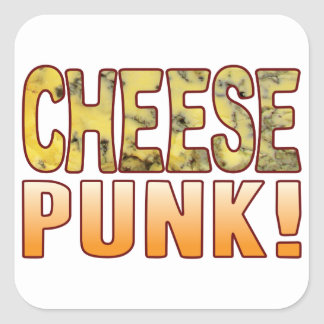 Punk Blue Cheese Square Sticker