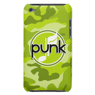 Punk bright green camo camouflage iPod touch case