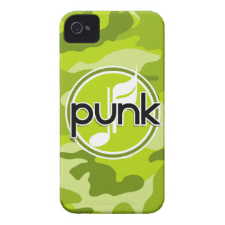 Punk bright green camo camouflage Case-Mate iPhone 4 cases