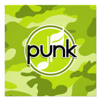 Punk bright green camo camouflage announcements