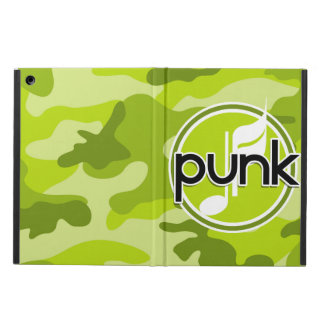 Punk bright green camo camouflage case for iPad air
