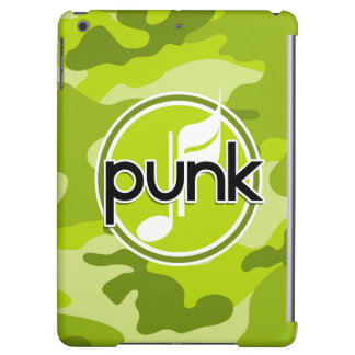 Punk bright green camo camouflage cover for iPad air