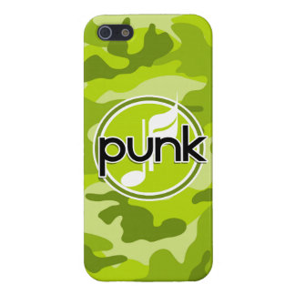 Punk bright green camo camouflage cases for iPhone 5