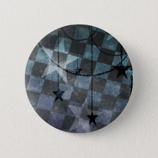 Punk checkerboard stars 2 inch round button