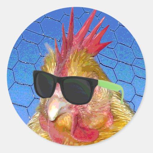 Punk Chicken Stickers