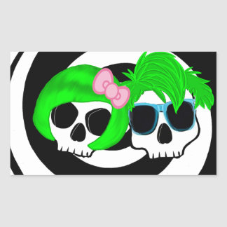 Punk  Couple Skulls Sticker