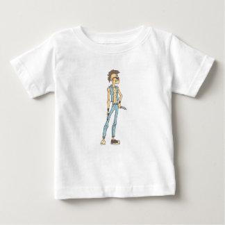 Punk Dangerous Criminal Outlined Comics Style Baby T-Shirt