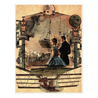 Punk de vapeur carte postale vintage d art de sty