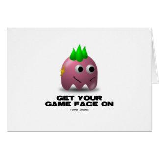 Punk de visage de jeu (rétro avatar) cartes