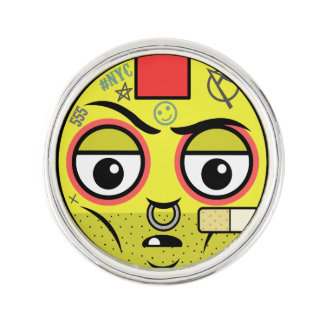 Punk Face Lapel Pin