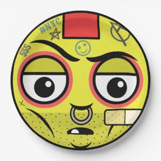 Punk Face Paper Plate