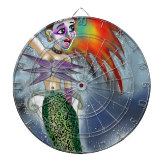 Punk goes the Mermaid Dartboard