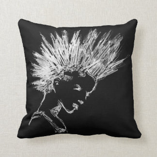 Punk iro woman throw pillow