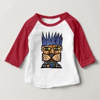 """""""Punk Kat"""" Baby 3/4 Raglan T-Shirt"""