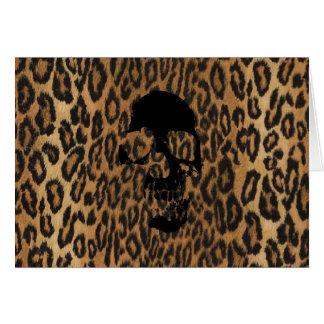 Punk Leopard Card
