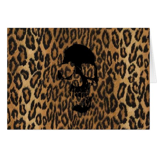 Punk Leopard Card
