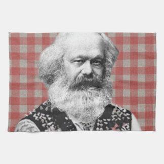 Punk Marx Hand Towel