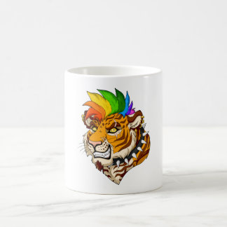 Punk/Mohawk Tiger 11 oz Classic Mug