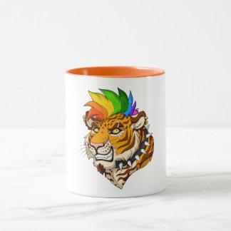 Punk/Mohawk Tiger 11 oz Combo Mug