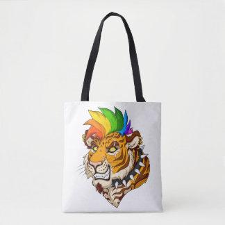 Punk/Mohawk Tiger Custom All-Over-Print Tote Bag
