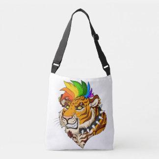 Punk/Mohawk Tiger Custom Cross Body Bag