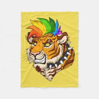 Punk / Mohawk Tiger Fleece Blanket