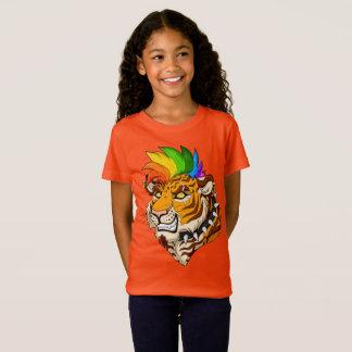 Punk/Mohawk Tiger Girls' Fine Jersey T-Shirt