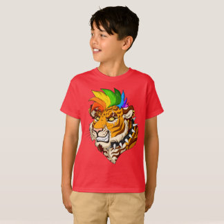 Punk/Mohawk Tiger Kids' T-Shirt