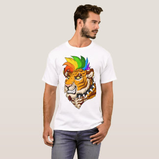 Punk/Mohawk Tiger Men's Basic T-Shirt