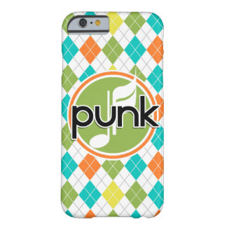 Punk Music; Colorful Argyle Pattern Barely There iPhone 6 Case