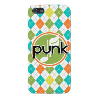 Punk Music; Colorful Argyle Pattern Covers For iPhone 5