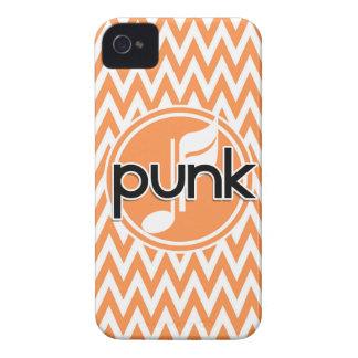 Punk Orange and White Chevron iPhone 4 Covers