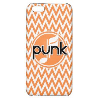 Punk Orange and White Chevron iPhone 5C Cover