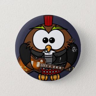 Punk owl 2 inch round button