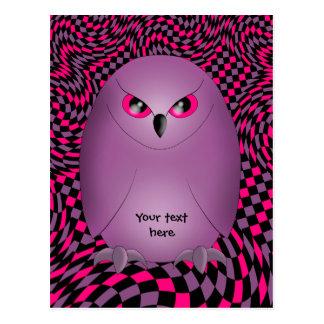 Punk owl postcard