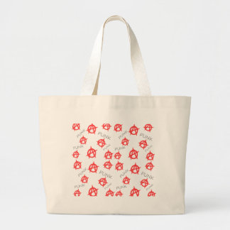 Punk pattern large tote bag