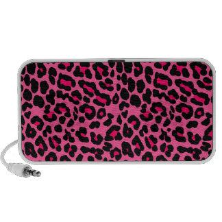 Punk  Pink Leopard Print Travel Speakers