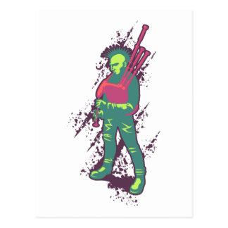 Punk Piper Postcard