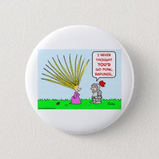 punk rapunzel hair 2 inch round button