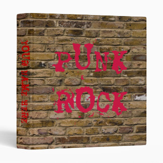 Punk Rock Brick Wall 3 Ring Binders